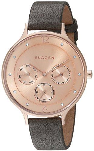 スカーゲン 腕時計 レディース SKW2392 Skagen Women's SKW2392 Anita Grey Leather Watchスカーゲン 腕時計 レディース SKW2392