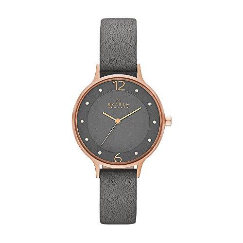 スカーゲン 腕時計 レディース SKW2267 【送料無料】Skagen Women's Anita Quartz Leather Watch, Color: Black, 12(Model: SKW2267)スカーゲン 腕時計 レディース SKW2267