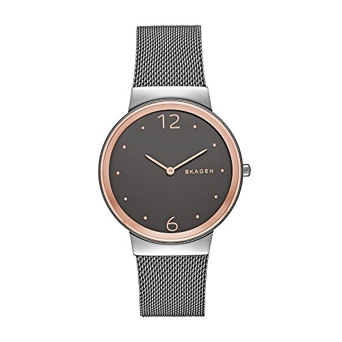 スカーゲン 腕時計 レディース SKW2382 【送料無料】Skagen Women's Ancher Quartz Stainless Steel Mesh Dress Watch, Color: Rose Gold, Grey (Model: SKW2382)スカーゲン 腕時計 レディース SKW2382