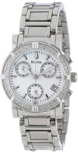 ブローバ 腕時計 レディース 96R19 【送料無料】Bulova Women's 96R19 Diamond-Studded Chronograph Watchブローバ 腕時計 レディース 96R19