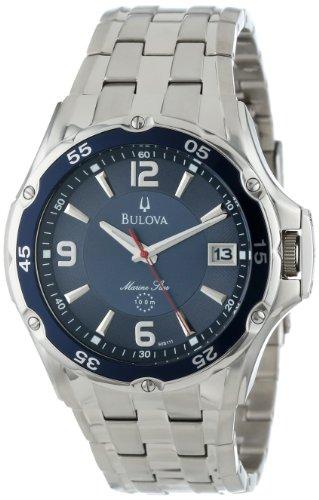 ブローバ 腕時計 メンズ 98B111 【送料無料】Bulova Men's 98B111 Marine Star Stainless Steel Bracelet Blue Dial Watchブローバ 腕時計 メンズ 98B111