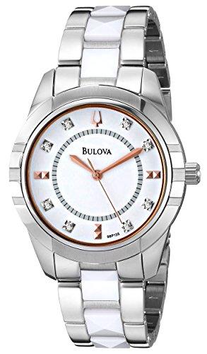 ブローバ 腕時計 レディース 98P135 【送料無料】Bulova Women's 98P135 Diamond-Accented Dial Watch in Silver Toneブローバ 腕時計 レディース 98P135