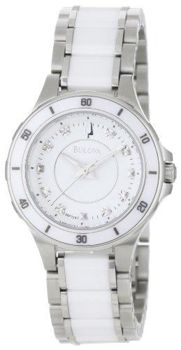 ブローバ 腕時計 レディース 98P124 【送料無料】Bulova Women's 98P124 Substantial Ceramic & Stainless Steel Watchブローバ 腕時計 レディース 98P124