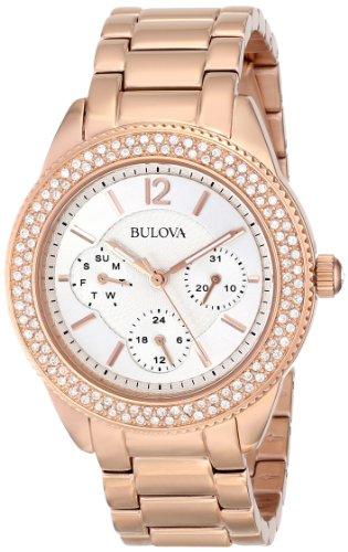 ブローバ 腕時計 レディース 97N101 【送料無料】Bulova Women's 97N101 Swarovski Crystal Rose Gold Tone Watchブローバ 腕時計 レディース 97N101