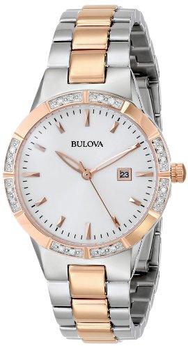 ブローバ 腕時計 レディース 98R169 【送料無料】Bulova Women's 98R169 Two-Tone Watch with Diamond-Accented Bezelブローバ 腕時計 レディース 98R169