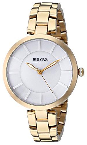 ブローバ 腕時計 レディース 97L142 【送料無料】Bulova Women's 97L142 Analog Display Japanese Quartz Yellow Watchブローバ 腕時計 レディース 97L142