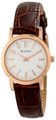 ブローバ 腕時計 レディース 97L121 【送料無料】Bulova Women's 97L121 Leather Strap Watchブローバ 腕時計 レディース 97L121