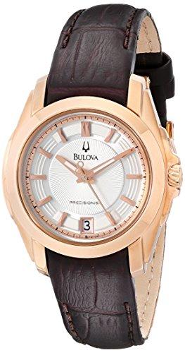 ブローバ 腕時計 レディース 97M104 【送料無料】Bulova Women's 97M104 Precisionist Longwood Rose-Tone Brown Leather Watchブローバ 腕時計 レディース 97M104