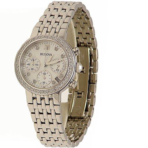 ブローバ 腕時計 レディース 96R204 【送料無料】Bulova Stainless Steel Diamond Watchブローバ 腕時計 レディース 96R204
