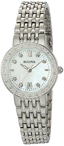 ブローバ 腕時計 レディース 96R203 【送料無料】Bulova Women's Quartz Watch with Silver-Plated-Stainless-Steel Strap, 14 (Model: 96R203)ブローバ 腕時計 レディース 96R203