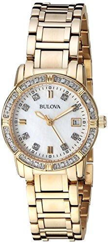 ブローバ 腕時計 レディース 【送料無料】Bulova Women's Quartz Watch with Stainless-Steel Strap, Gold, 13.75 (Model: 98R135)ブローバ 腕時計 レディース