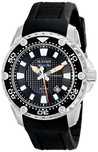 ブローバ 腕時計 メンズ 98B209 【送料無料】Bulova Men's 98B209 Stainless Steel Automatic Watch with Black Rubber Bandブローバ 腕時計 メンズ 98B209