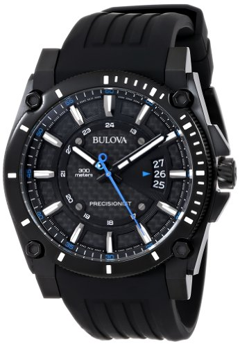 ブローバ 腕時計 メンズ 98B142 【送料無料】Bulova Men's 98B142 Precisionist Black Stainless Steel Watch With Black Rubber Bandブローバ 腕時計 メンズ 98B142