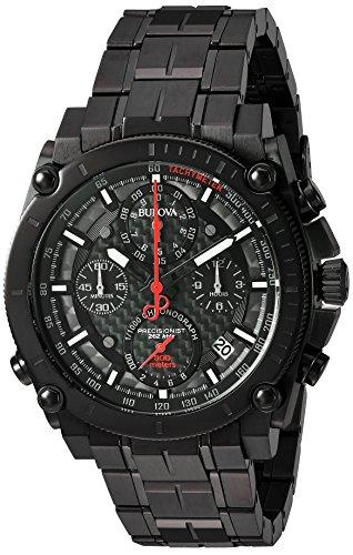 腕時計 ブローバ メンズ 98B257 【送料無料】Bulova Men's 'Precisionist' Quartz Stainless Steel Watch, Color:Black (Model: 98B257)腕時計 ブローバ メンズ 98B257