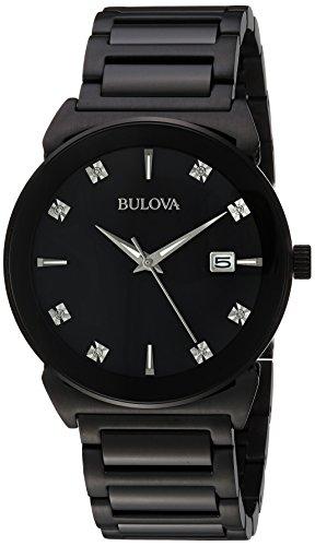 ブローバ 腕時計 メンズ 98D121 【送料無料】Bulova Men's 98D121 Analog Display Japanese Quartz Black Watchブローバ 腕時計 メンズ 98D121