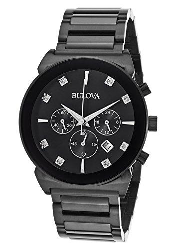 ブローバ 腕時計 メンズ 98D123 【送料無料】Bulova Men's Diamonds - 98D123 Blackブローバ 腕時計 メンズ 98D123