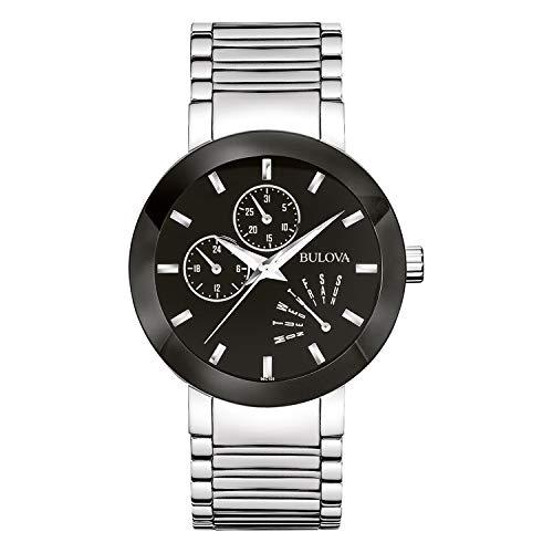ブローバ 腕時計 メンズ 96C105 Bulova Men's 96C105 Black Stainless Steel Watchブローバ 腕時計 メンズ 96C105