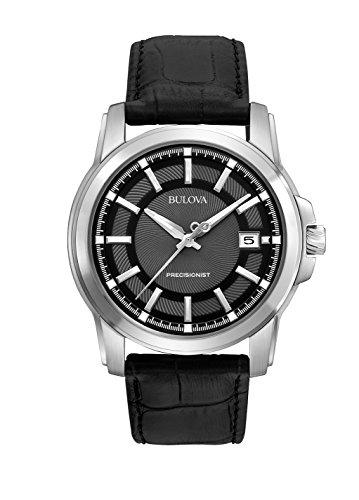 ブローバ 腕時計 メンズ 96B158 【送料無料】Bulova Men's 96B158 Precisionist Leather Strap Watchブローバ 腕時計 メンズ 96B158