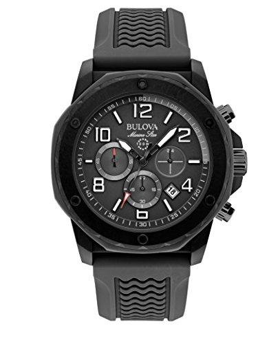 ブローバ 腕時計 メンズ 98B223 Bulova Marine Star Black Dial SS Rubber Chrono Quartz Men's Watch 98B223ブローバ 腕時計 メンズ 98B223