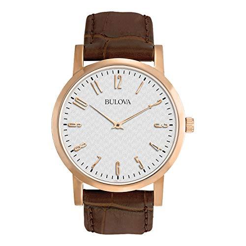 ブローバ 腕時計 メンズ 97A106 【送料無料】Bulova Men's 97A106 Leather Strap Watchブローバ 腕時計 メンズ 97A106