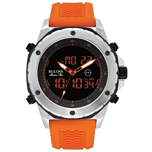 ブローバ 腕時計 メンズ 98C118 Bulova Men's 98C118 Analog-Digital Display Japanese Quartz Orange Watchブローバ 腕時計 メンズ 98C118