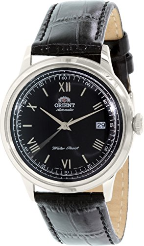 オリエント 腕時計 メンズ ER2400DB 【送料無料】Orient Bambino Automatic Dress Watch with Black Dial, Roman Numeral Markers ER2400DBオリエント 腕時計 メンズ ER2400DB