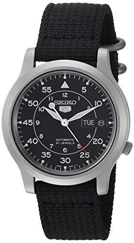 セイコー 腕時計 メンズ SNK809 【送料無料】Seiko Men's SNK809 Seiko 5 Automatic Stainless Steel Watch with Black Canvas Strapセイコー 腕時計 メンズ SNK809