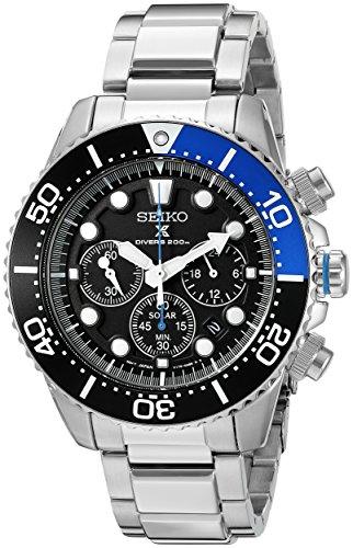 セイコー 腕時計 メンズ SSC017 【送料無料】Seiko Men's SSC017 Prospex Analog Japanese Quartz Solar Stainless Steel Dive Watchセイコー 腕時計 メンズ SSC017