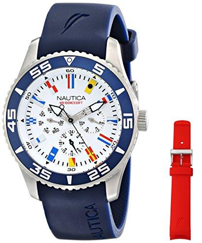 ノーティカ 腕時計 メンズ NAD13502G Nautica Men's NAD13502G NST 07 Flag Multi Analog Display Japanese Quartz Blue Watchノーティカ 腕時計 メンズ NAD13502G