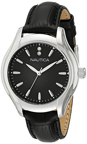 ノーティカ 腕時計 レディース NAD11003M Nautica Women's NAD11003M NCT 18 MID Analog Display Quartz Black Watchノーティカ 腕時計 レディース NAD11003M