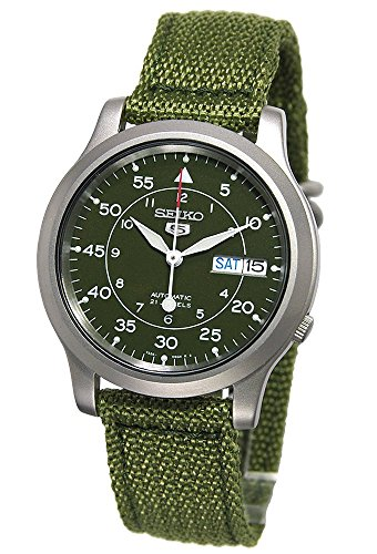 セイコー 腕時計 メンズ SNK805 【送料無料】Seiko Men's SNK805 Seiko 5 Automatic Stainless Steel Watch with Green Canvasセイコー 腕時計 メンズ SNK805