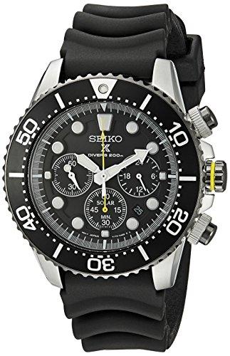 セイコー 腕時計 メンズ SSC021 Seiko Men's SSC021 Solar Diver Chronograph Watchセイコー 腕時計 メンズ SSC021