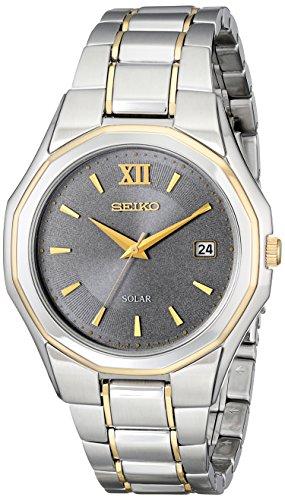 セイコー 腕時計 メンズ SNE166 【送料無料】Seiko Men's SNE166 Classic Solar-Powered Two-Tone Stainless Steel Watch with Link Braceletセイコー 腕時計 メンズ SNE166