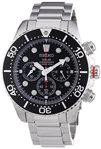 セイコー 腕時計 メンズ SSC015 【送料無料】Seiko Men's SSC015P1 Chronograph Solar Power Stainless Steel Watchセイコー 腕時計 メンズ SSC015