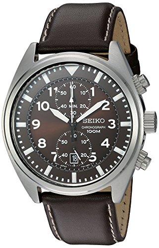 セイコー 腕時計 メンズ SNN241 Seiko Men's SNN241 Stainless Steel Watch with Brown Leather Bandセイコー 腕時計 メンズ SNN241