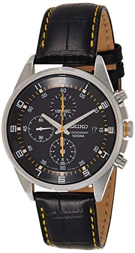 セイコー 腕時計 メンズ SNDC89P2 【送料無料】Seiko - SNDC89P2 - Men's Watch - Quartz Chronograph - Black Dial - Black Leather Strapセイコー 腕時計 メンズ SNDC89P2