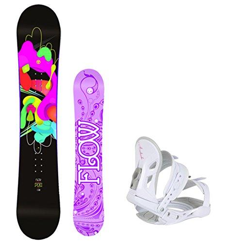 スノーボード ウィンタースポーツ フロウ 2017年モデル2018年モデル多数 Flow 2018 Pixi Women's Snowboard Package with Avalanche Bindings 4 YR WARRANTY- Board Size 144スノーボード ウィンタースポーツ フロウ 2017年モデル2018年モデル多数