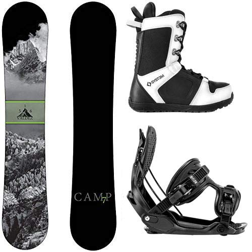 スノーボード ウィンタースポーツ キャンプセブン 2017年モデル2018年モデル多数 Camp Seven Package Valdez CRC Snowboard-156 cm-Flow Alpha MTN Large-System APX Snowboard Boots 9スノーボード ウィンタースポーツ キャンプセブン 2017年モデル2018年モデル多数