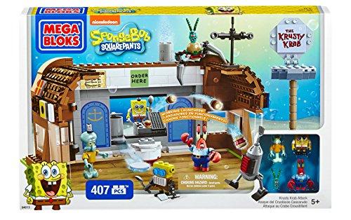 メガブロック スポンジボブ 組み立て 知育玩具 DBH85 Mega Bloks SpongeBob Krusty Krab Attackメガブロック スポンジボブ 組み立て 知育玩具 DBH85