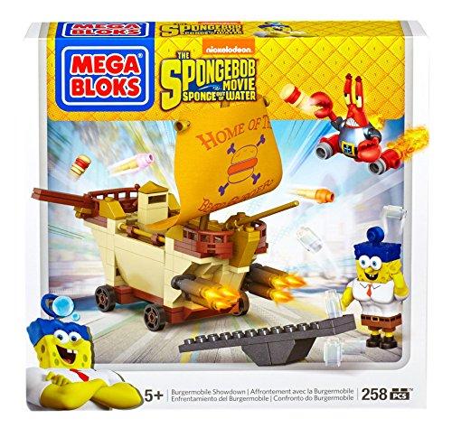 Setメガブロック CND25 スポンジボブ SpongeBob スポンジボブ Showdown Bloks Mega Building 知育玩具 CND25 メガブロック 組み立て 組み立て 知育玩具 Burgermobile