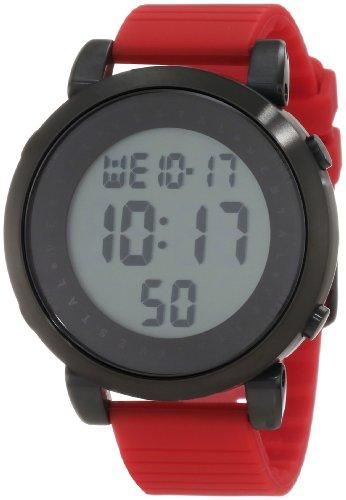 ベスタル ヴェスタル 腕時計 メンズ DDDS03 Vestal Men's Digital Doppler Rubber Stainless Steel Japanese-Quartz Silicone Strap, red, 22 Casual Watch (Model: DDDS03)ベスタル ヴェスタル 腕時計 メンズ DDDS03