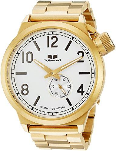 ベスタル ヴェスタル 腕時計 メンズ CTN3M07 【送料無料】Vestal Canteen Metal Japanese-Quartz Watch with Stainless-Steel Strap, Gold, 22 (Model: CTN3M07)ベスタル ヴェスタル 腕時計 メンズ CTN3M07