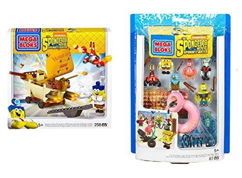 メガブロック スポンジボブ 組み立て 知育玩具 Mega Bloks SpongeBob SquarePants Burgermobile Showdown & Post Apocalyptic Figure Pack Bundleメガブロック スポンジボブ 組み立て 知育玩具