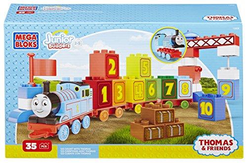 メガブロック きかんしゃトーマス トーマス&フレンズ 組み立て 知育玩具 CYM77 Mega Bloks Junior Builders Thomas and Friends 1-2-3 Count Set 33 Piecesメガブロック きかんしゃトーマス トーマス&フレンズ 組み立て 知育玩具 CYM77