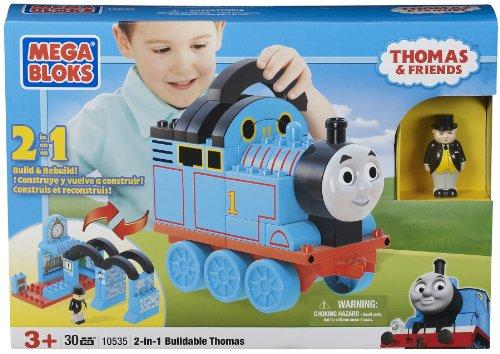 メガブロック きかんしゃトーマス トーマス&フレンズ 組み立て 知育玩具 10535 Mega Bloks 2-in-1 Buildable Thomasメガブロック きかんしゃトーマス トーマス&フレンズ 組み立て 知育玩具 10535