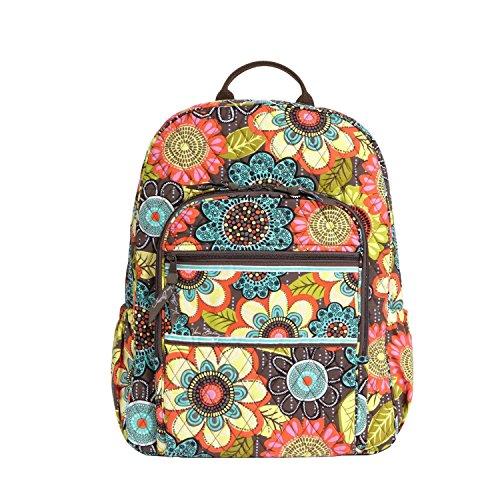 ヴェラブラッドリー ベラブラッドリー アメリカ フロリダ州マイアミ 日本未発売 12470-157 Vera Bradley Campus Backpack (Flower Shower)ヴェラブラッドリー ベラブラッドリー アメリカ フロリダ州マイアミ 日本未発売 12470-157
