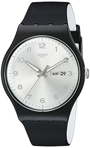 スウォッチ 腕時計 メンズ SUOB717 【送料無料】Swatch Unisex SUOB717 Originals Black Watch with Silver-Tone Dialスウォッチ 腕時計 メンズ SUOB717