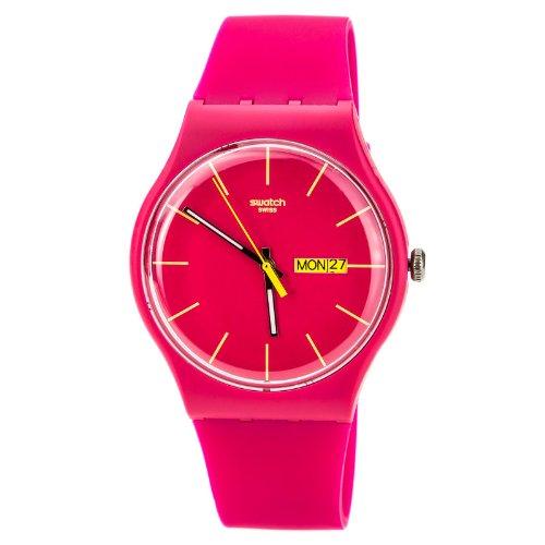 スウォッチ 腕時計 レディース 夏の腕時計特集 SUOR704 【送料無料】Swatch Rubine Rebel Pink Dial Plastic Silicone Quartz Ladies Watch SUOR704スウォッチ 腕時計 レディース 夏の腕時計特集 SUOR704