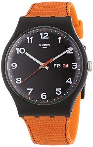スウォッチ 腕時計 メンズ Classic Swatch Faux Fox Black Dial Plastic Orange Silicone Quartz Men's Watch SUOB709スウォッチ 腕時計 メンズ Classic