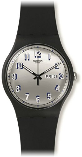 スウォッチ 腕時計 メンズ SUOB718 Swatch SUOB718 Secret Service Silver Day Date Black Silicone Unisex Watch NEWスウォッチ 腕時計 メンズ SUOB718